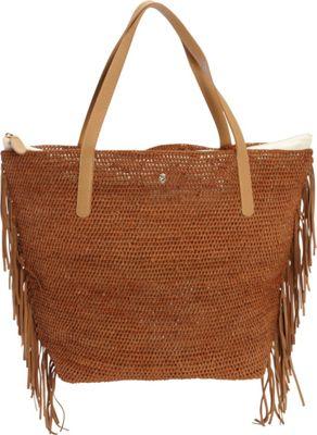 Helen Kaminski Davolia Fringe M Tote Sienna/Tan/Desert - Helen Kaminski Designer Handbags