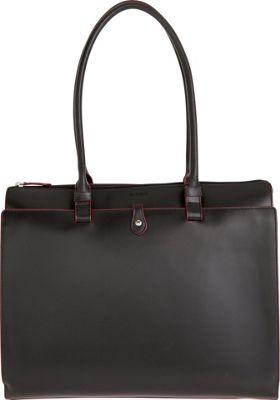 Lodis Audrey Jessica Work Satchel Black/ Red - Lodis Leather Handbags