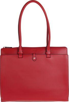 Lodis Audrey Jessica Work Satchel Red - Lodis Leather Handbags