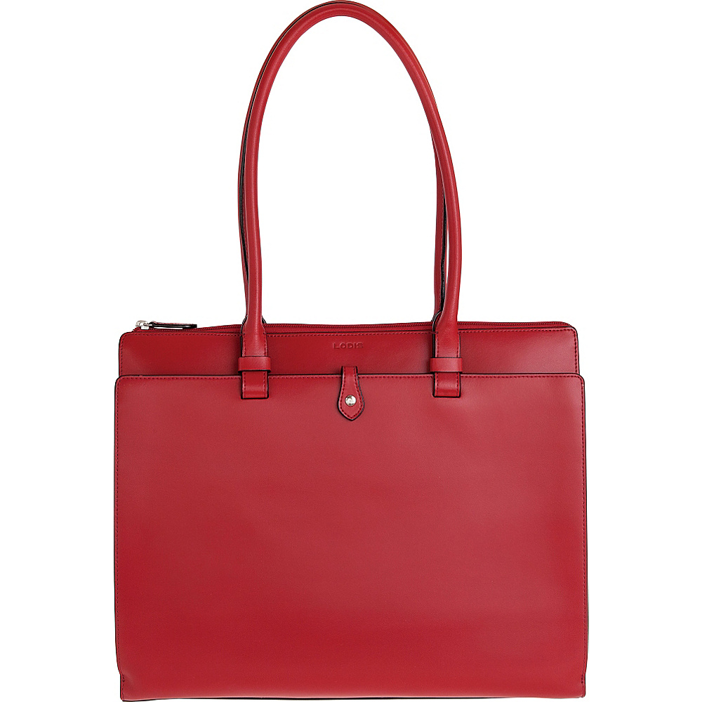 Lodis Audrey Jessica Work Satchel Red Lodis Leather Handbags