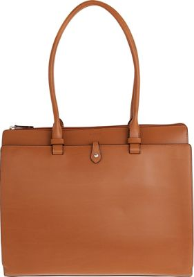 Lodis Audrey Jessica Work Satchel Toffee/Chocolate - Lodis Leather Handbags