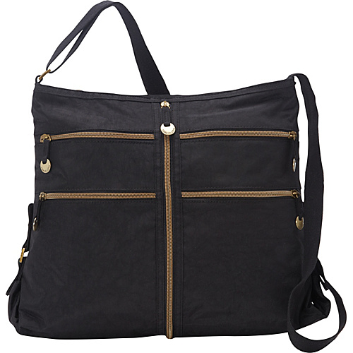 Travelon RFID Blocking Expanding Convertible Crossbody Bag - Exclusive Black - Travelon Fabric Handbags