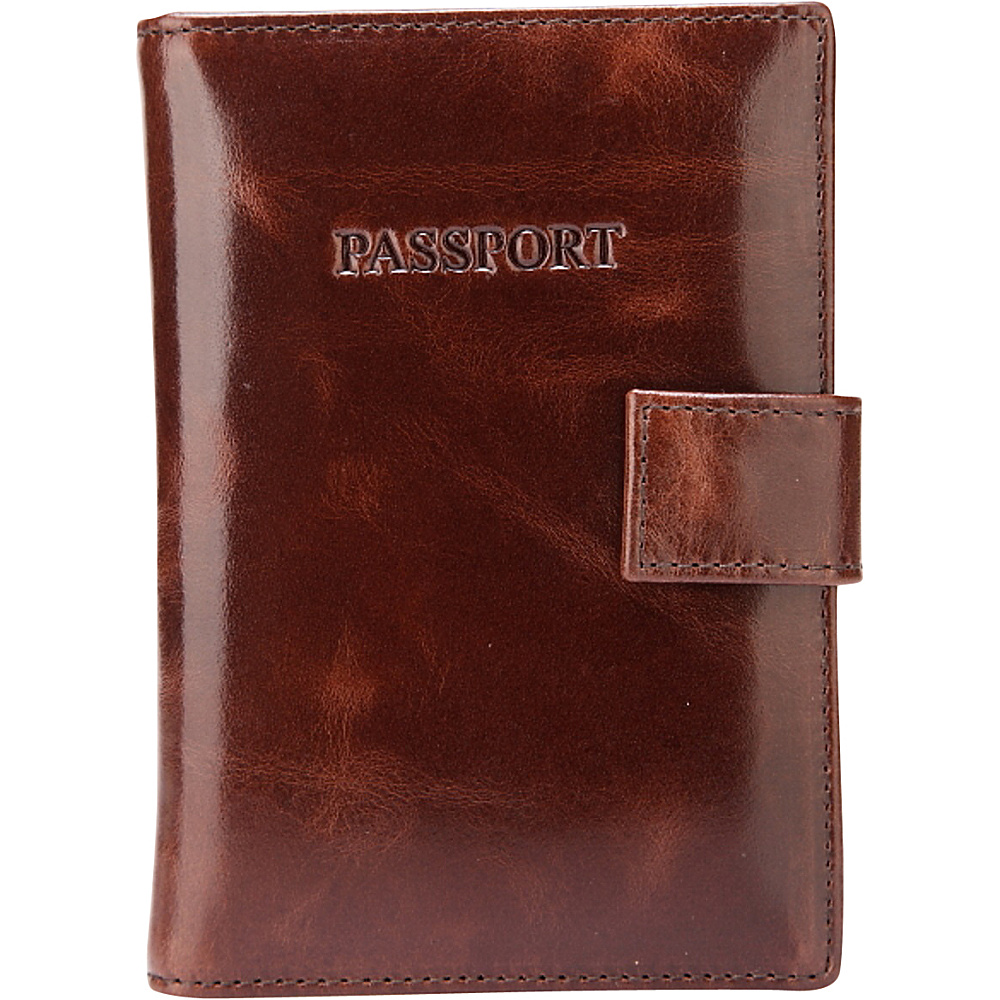 Vicenzo Leather London Distressed Leather Travel Passport Wallet Holder Case Espresso Brown Vicenzo Leather Travel Wallets