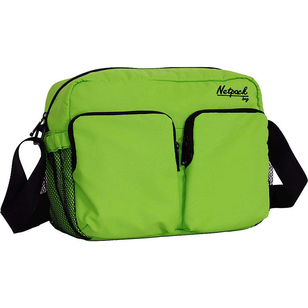Netpack Soft Lightweight Compact Travel Shoulder Bag with RFID Pocket Green Netpack Other Men s Bags