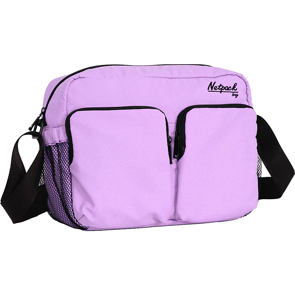 Netpack Soft Lightweight Compact Travel Shoulder Bag with RFID Pocket Purple Netpack Other Men s Bags