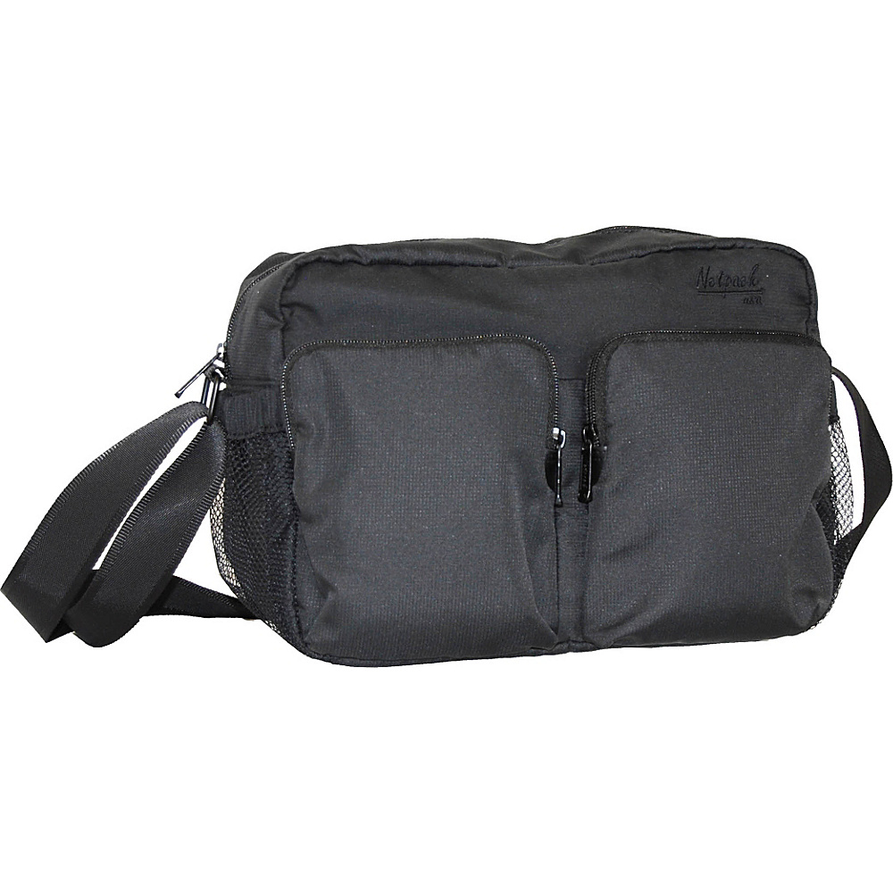 Netpack Soft Lightweight Compact Travel Shoulder Bag with RFID Pocket Black Netpack Other Men s Bags