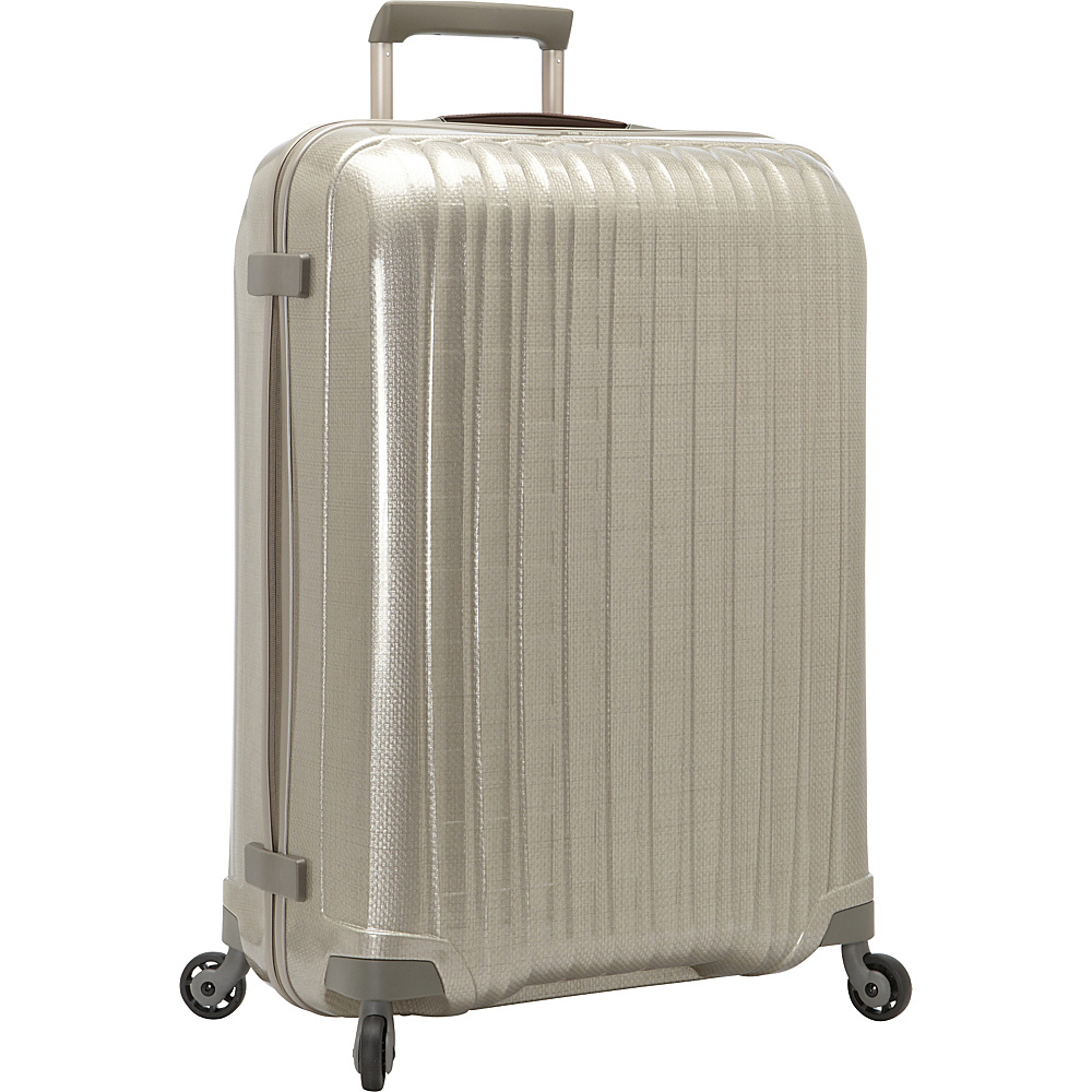 Hartmann Luggage Innovaire Extended Journey Spinner Ivory Gold Hartmann Luggage Hardside Checked
