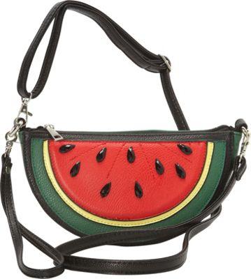 Ashley M Watermelon Slice Crossbody Bag Green - Ashley M Manmade Handbags