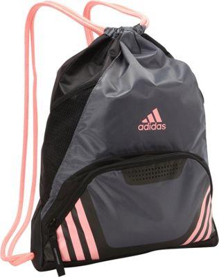 adidas Team Speed II Sackpack Onix/Light Flash Red - adidas School & Day Hiking Backpacks