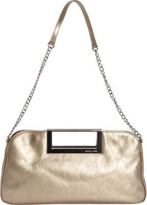 MICHAEL Michael Kors Berkley Large Clutch Light Nickel - MICHAEL Michael Kors Designer Handbags
