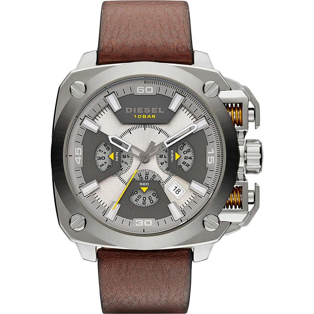 Diesel Watches BAMF Leather Watch Brown - Diesel Watches Watches