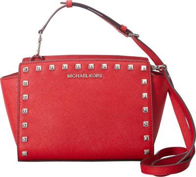 MICHAEL Michael Kors Selma Stud Medium Messenger Chili - MICHAEL Michael Kors Designer Handbags