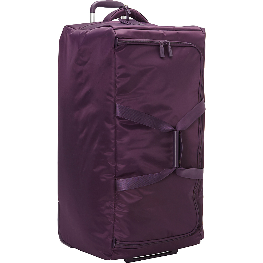 Lipault Paris Foldable 2 Wheeled 30 Duffle Purple Lipault Paris Rolling Duffels