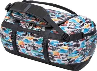 The North Face Base Camp Duffel Small Snow White Cutout Camo Print/Ashalt Grey - The North Face Outdoor Duffels