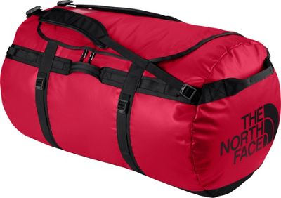 The North Face Base Camp Duffel Small TNF Red/TNF Black [all-over emboss] - The North Face Outdoor Duffels