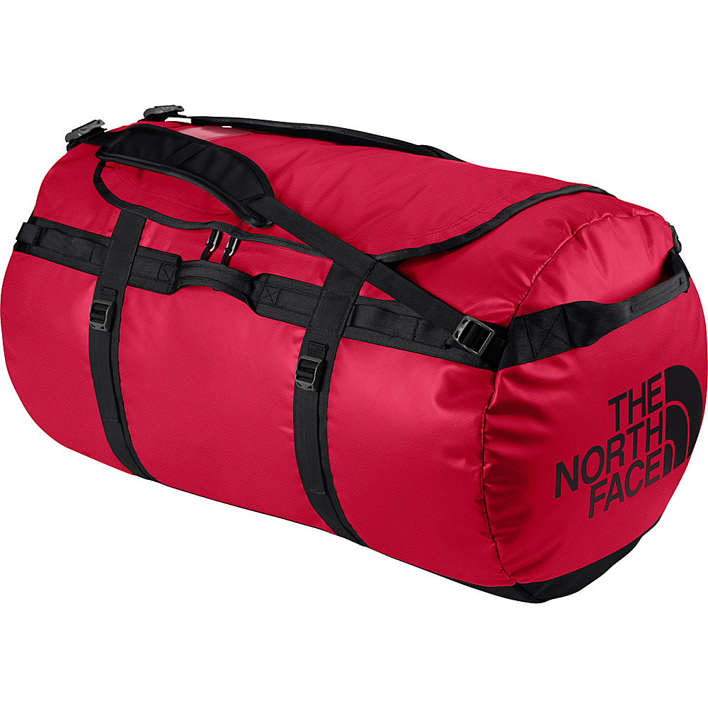 The North Face Base Camp Duffel Small TNF Red/TNF Black [all-over emboss] - The North Face Outdoor Duffels - Duffels, Outdoor Duffels