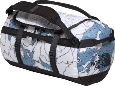 The North Face Base Camp Duffel Small Dusty Blue Around The World Print/Asphalt Grey - The North Face Outdoor Duffels 10535063