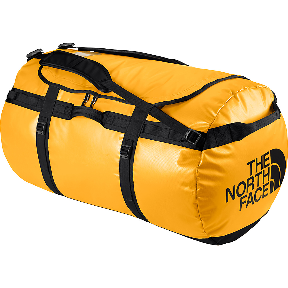 The North Face Base Camp Duffel Small Summit Gold TNF Black S The North Face Outdoor Duffels