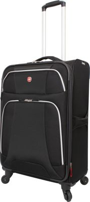 Wenger Travel Gear Monte Leone 24.5 inch Spinner Black - Wenger Travel Gear Softside Checked