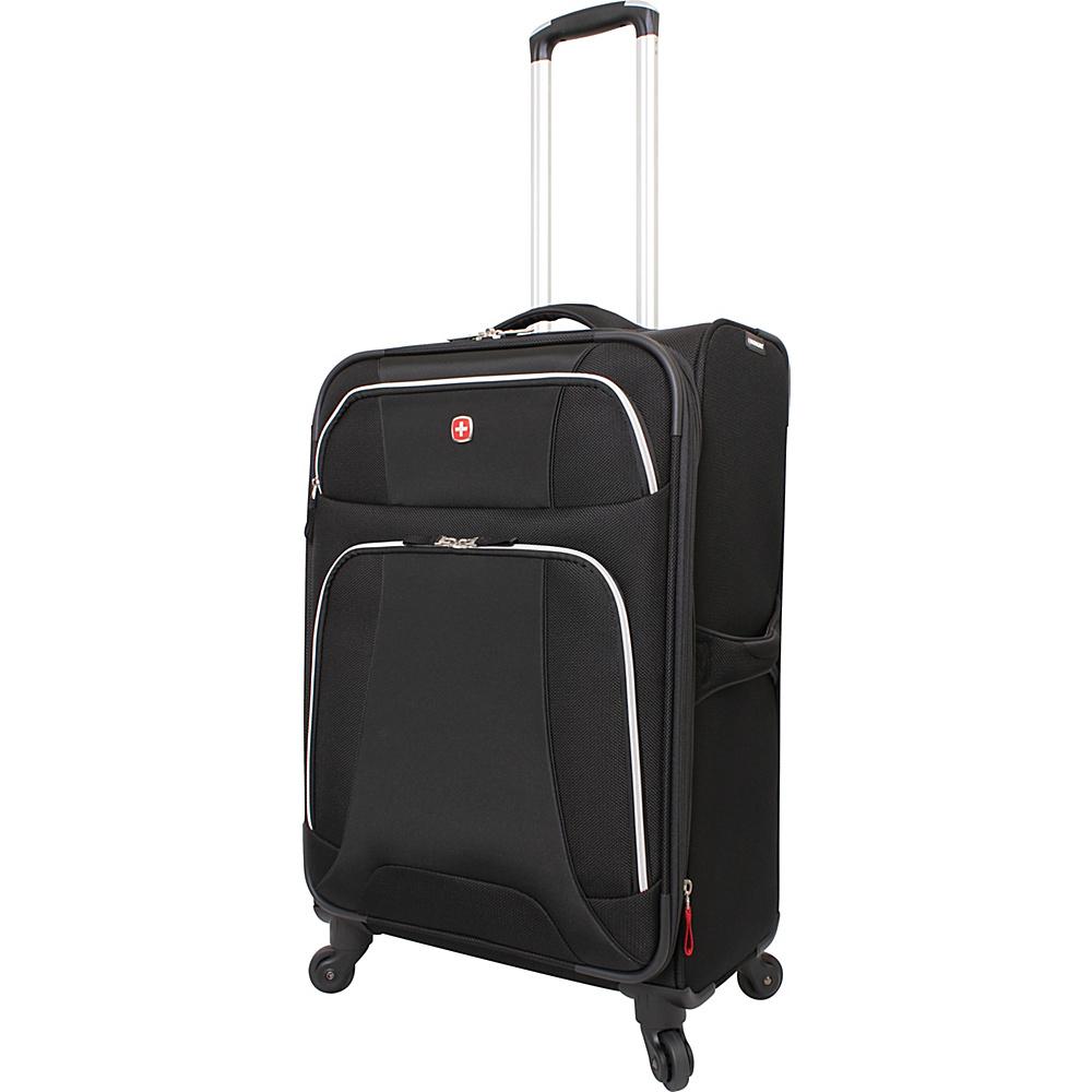 """Wenger Travel Gear Monte Leone 24.5"""" Spinner Black - Wenger Travel Gear Softside Checked"""