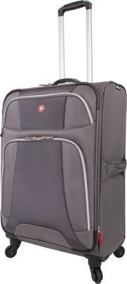 Wenger Travel Gear Monte Leone 24.5 inch Spinner Grey - Wenger Travel Gear Softside Checked