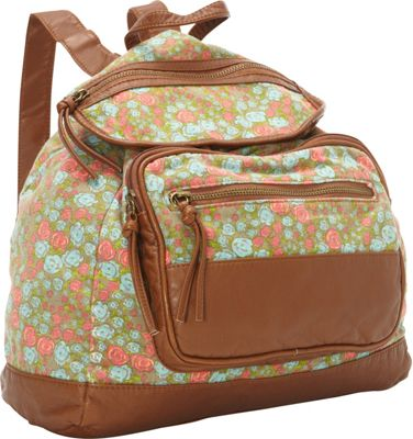 T-shirt & Jeans Floral Print Back Pack Multi - T-shirt & Jeans Everyday Backpacks