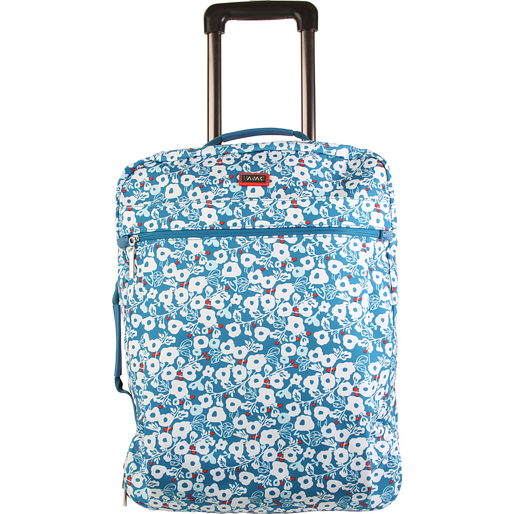 Hadaki Plane Hopping Roller Berry Blossom Teal - Hadaki Softside Carry-On