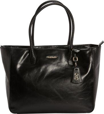 Cole Haan Isabella Glazed Large Tote Black - Cole Haan Designer Handbags