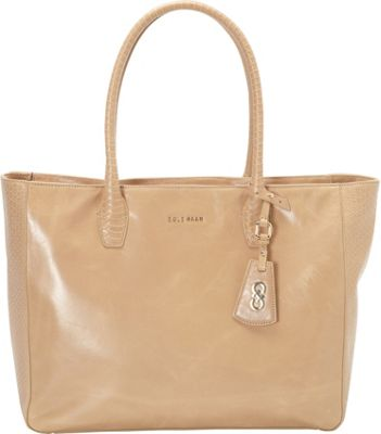 Cole Haan Isabella Glazed Large Tote Tan - Cole Haan Designer Handbags