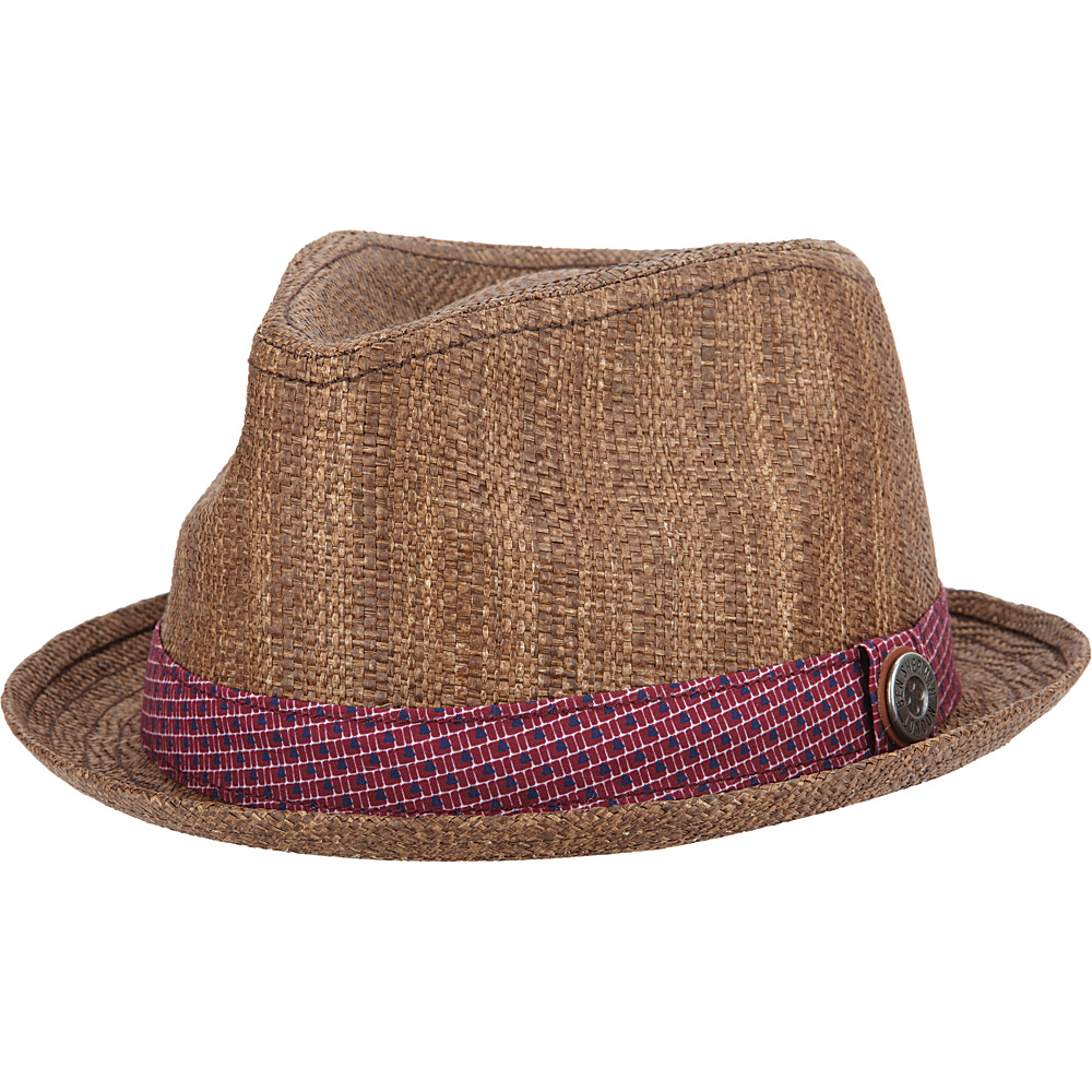 Ben Sherman Pattern Band Straw Hat Brown-Small/Medium - Ben Sherman Hats/Gloves/Scarves