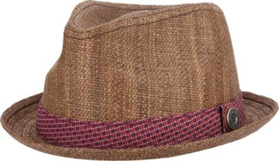 Ben Sherman Pattern Band Straw Hat L/XL - Brown - Ben Sherman Hats/Gloves/Scarves