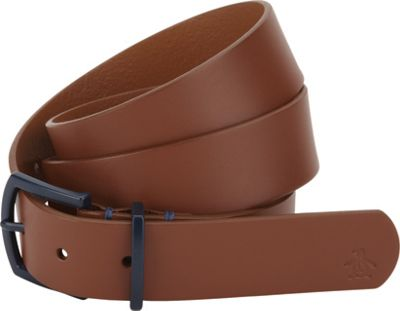 Original Penguin Cesar Leather Belt English Tan-36 - Original Penguin Belts