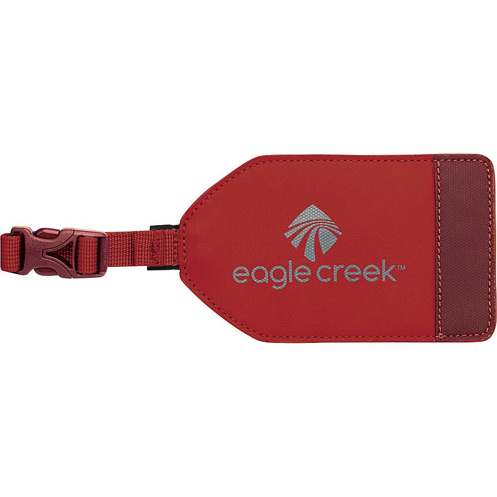 Eagle Creek Bi-Tech Luggage Tag Firebrick - Eagle Creek Luggage Accessories