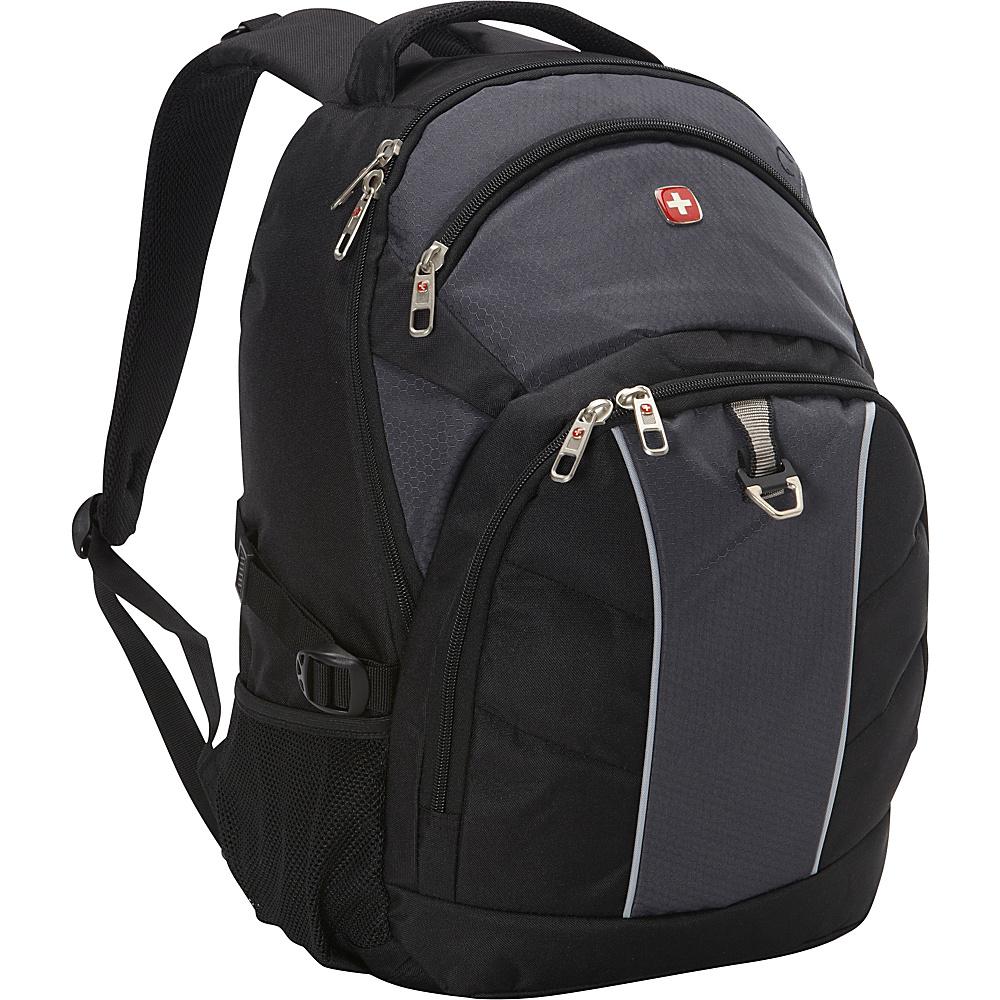 SwissGear Travel Gear 18.5 Laptop Backpack Black Grey SwissGear Travel Gear Business Laptop Backpacks