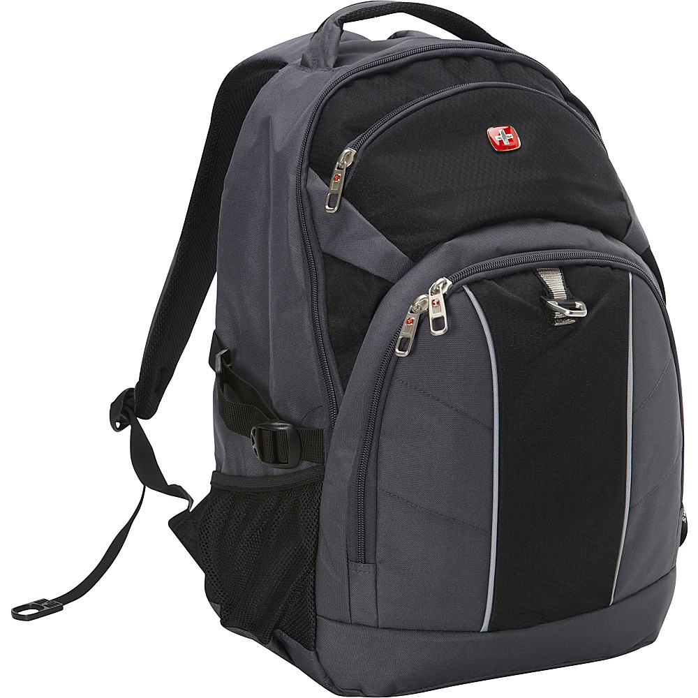 SwissGear Travel Gear 18.5 Laptop Backpack Grey with Black SwissGear Travel Gear Business Laptop Backpacks