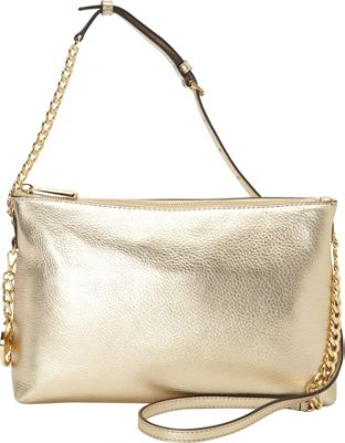 MICHAEL Michael Kors Jet Set Chain Top Zip Messenger Pale Gold - MICHAEL Michael Kors Designer Handbags