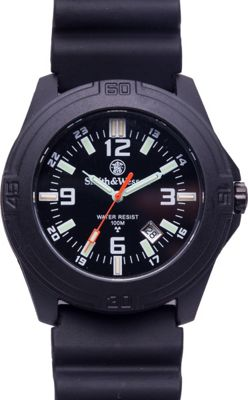 Smith & Wesson Watches Smith & Wesson Watches Soldier Swiss Tritium Watch with Rubber Strap Black - Smith & Wesson Watches Watches