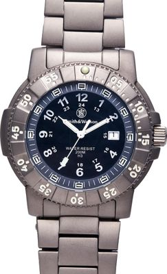 Smith & Wesson Watches Executive Tritium H3 Watch with Titanium Strap Black - Smith & Wesson Watches Watches