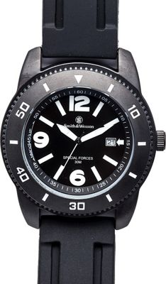 Smith & Wesson Watches Paratrooper Watch with Rubber Strap Black - Smith & Wesson Watches Watches