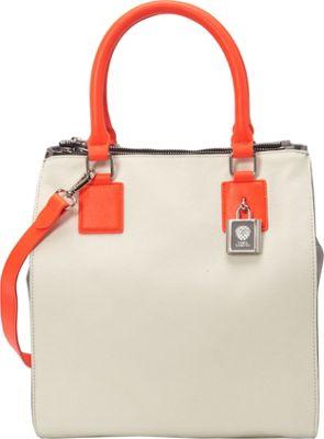 Vince Camuto Deb Satchel Bright White/Frost Grray - Vince Camuto Designer Handbags
