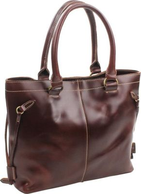 "Vagabond Traveler 15"" Leather Shoulder Bag Wine Red - Vagabond Traveler Leather Handbags"
