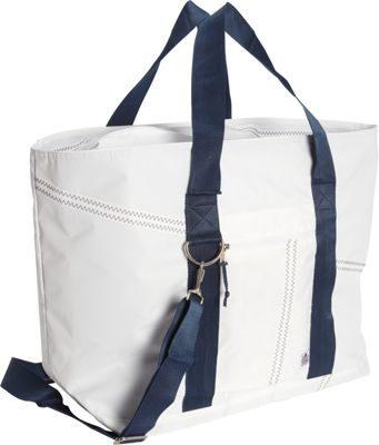 SailorBags Large Tote White/Blue - SailorBags All-Purpose Totes