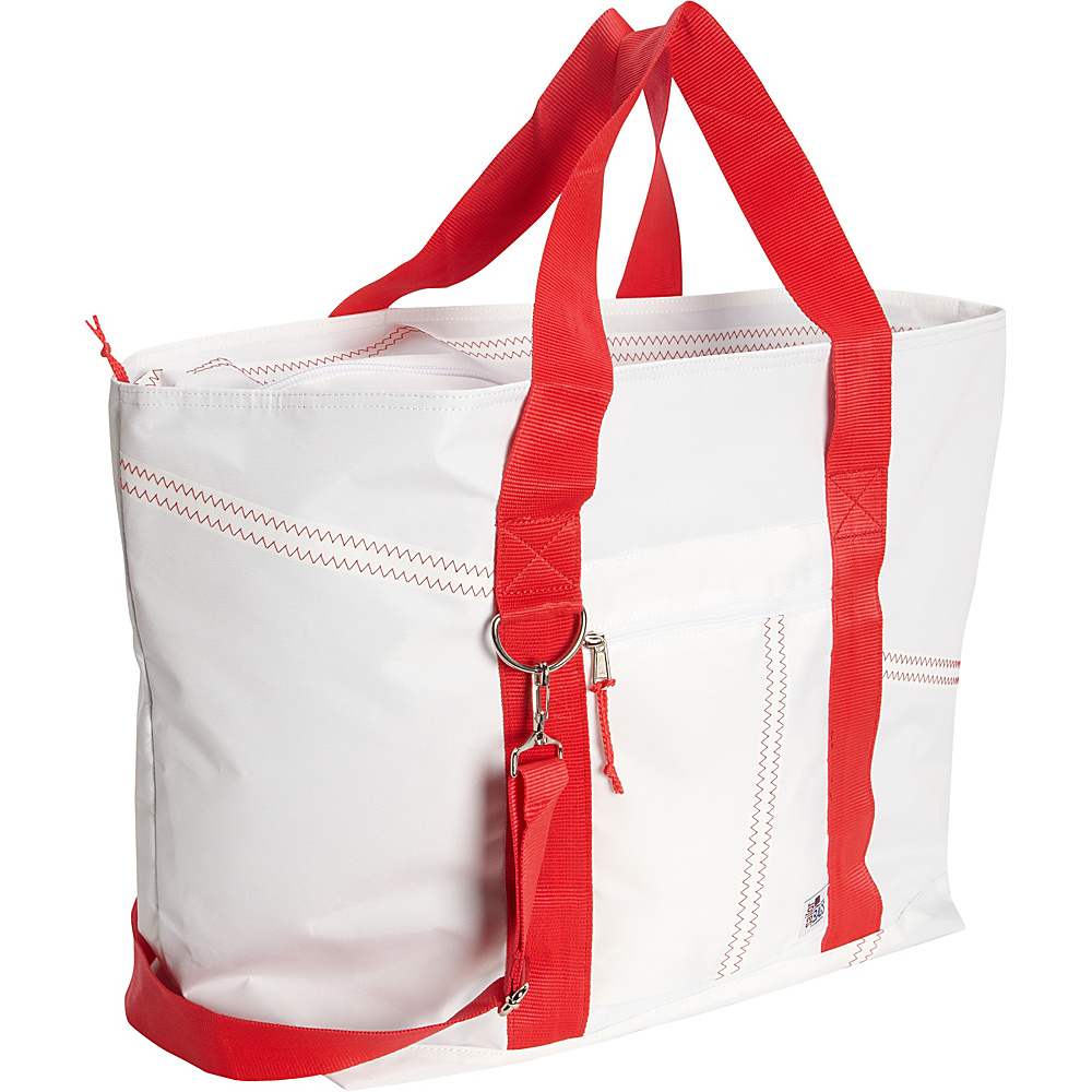 SailorBags Large Tote White Red SailorBags All Purpose Totes