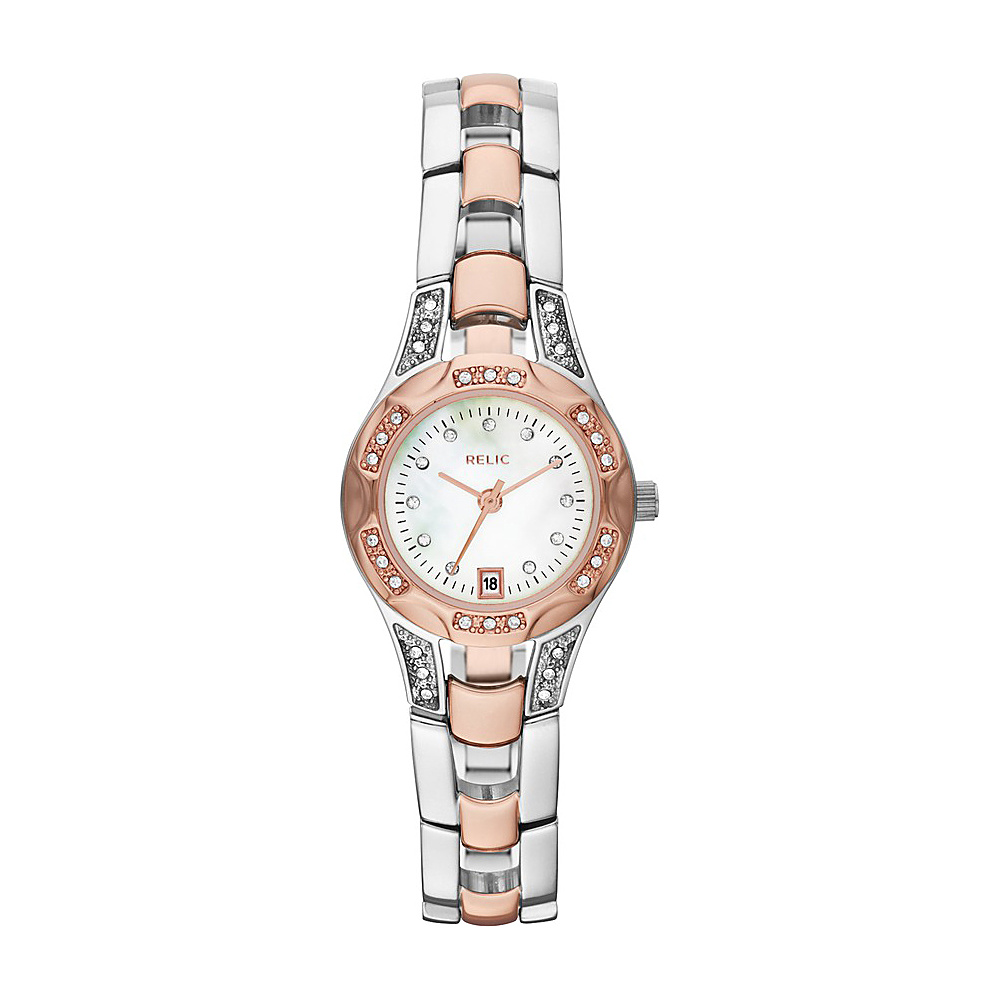 Relic Charlott Bracelet Watch Rose Gold Silver Relic Watches