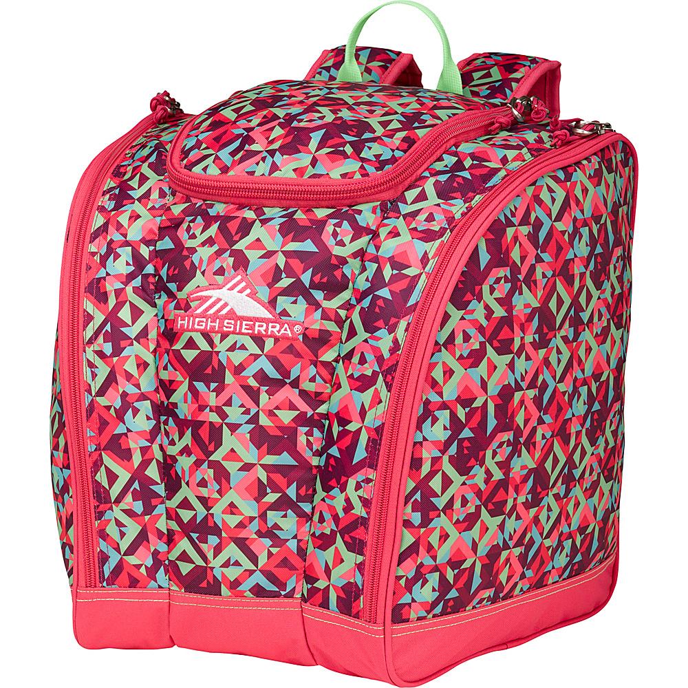 High Sierra Junior Trapezoid Boot Bag Prizm/Fuchsia/Lime - High Sierra Ski and Snowboard Bags