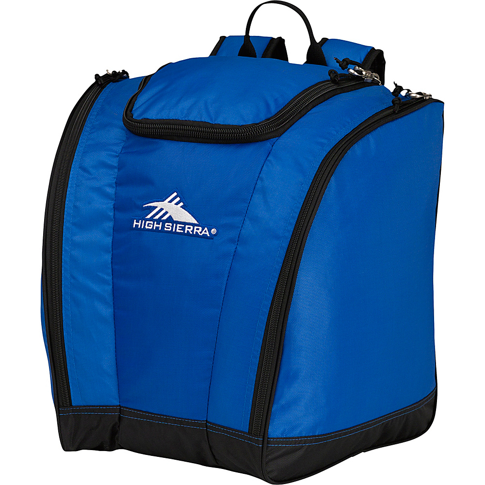 High Sierra Junior Trapezoid Boot Bag Vivid Blue/Black - High Sierra Ski and Snowboard Bags