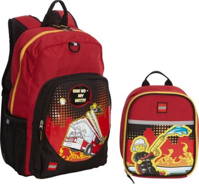 LEGO LEGO Fire City Nights Backpack & Fire City Nights Lunch Bag RED - LEGO Everyday Backpacks
