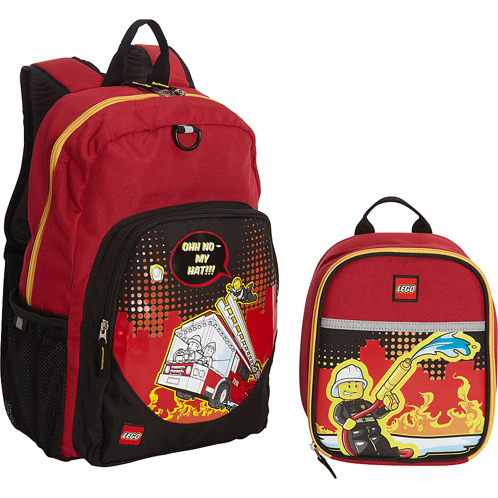 LEGO Fire City Nights Backpack Fire City Nights Lunch Bag RED LEGO Everyday Backpacks