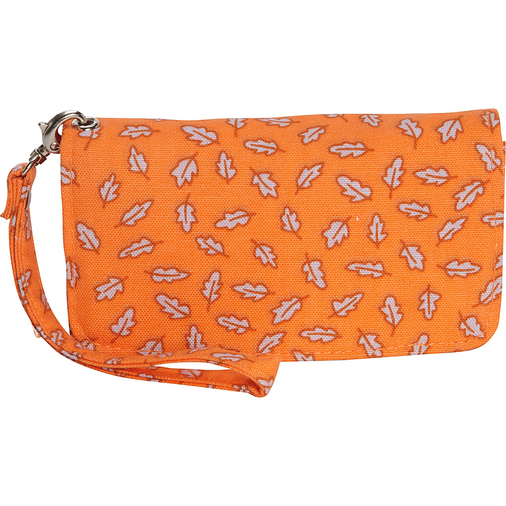 Donna Sharp Cell Phone Wristlet Posy Orange Leaves Donna Sharp Manmade Handbags
