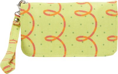 Donna Sharp Cell Phone Wristlet Posy Green Loops - Donna Sharp Manmade Handbags